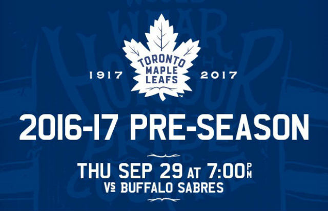 Toronto Maple Leafs Vs. Buffalo Sabres